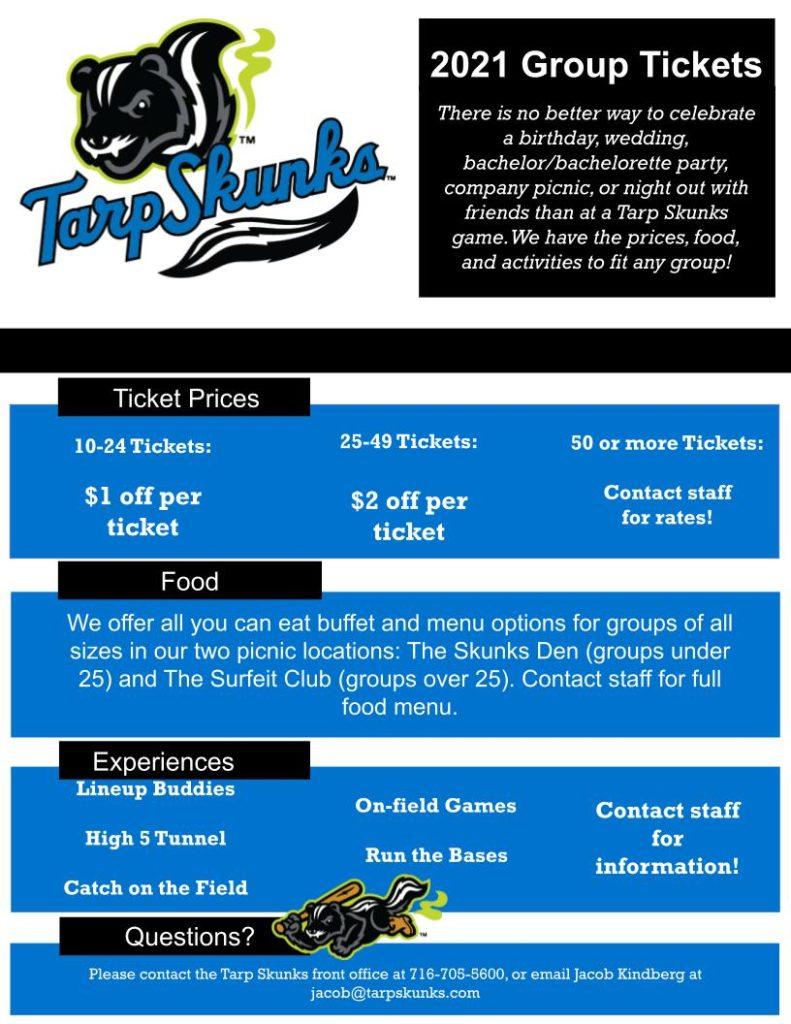 Jamestown Tarp Skunks Group Tickets